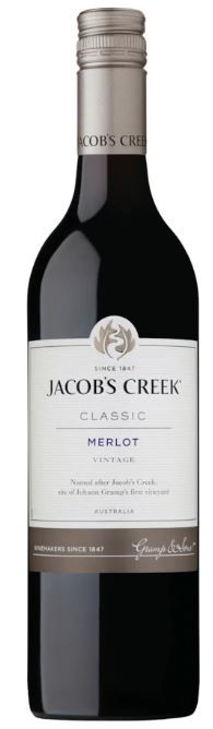 Jacob's Creek 'Classic' Merlot 2018 (12 x 750mL), SE AUS.