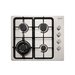 Euro 60cm S/S 4 burner gas cook top with