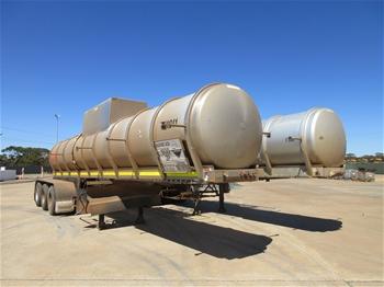 11x Tieman Acid Tanker Tri Axe Trailers