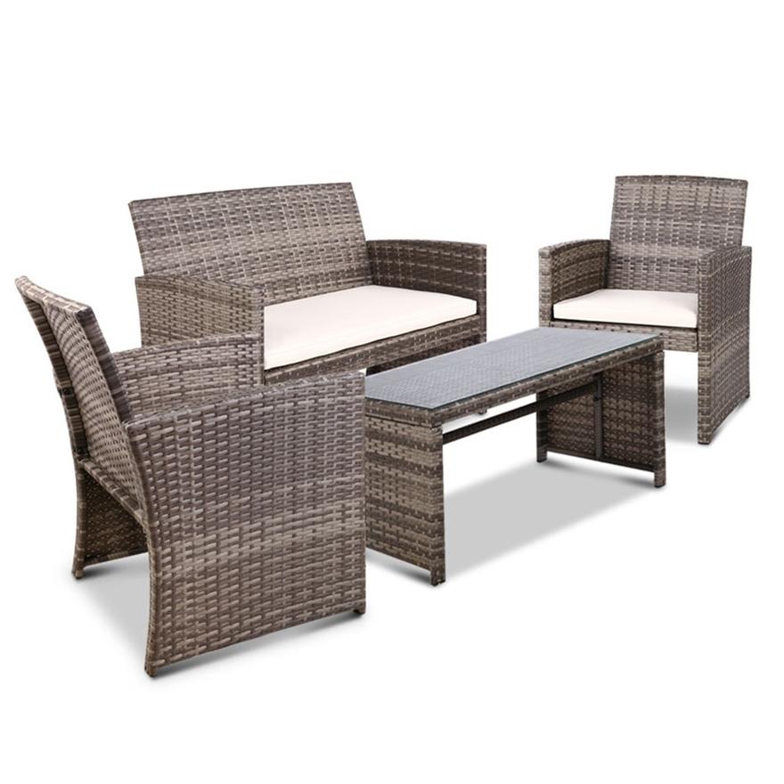 Buy Gardeon Garden Furniture Outdoor Lounge Setting Wicker ...