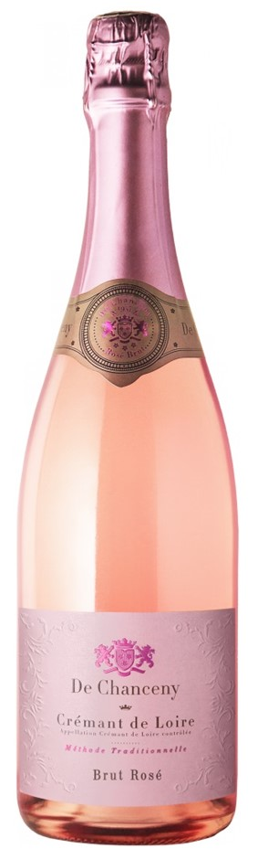 De Chanceny Cremant d'Loire Brut Rose NV (12 x 750mL), France.