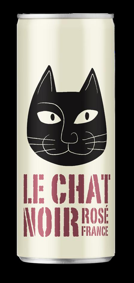 Le Chat Noir Rose 2017 (24 x 250mL Cans), France.