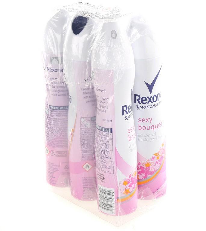 6 x REXONA Women`s Anti-Perspirant 48H Spray Sexy Bouquet 150g. Buyers Note