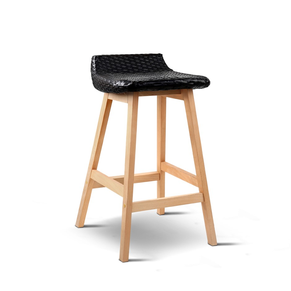 Artiss Set of 2 Weva Bar Stool - Black