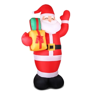 Jingle Jollys 8FT Inflatable Pop-up Sant