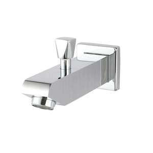 Square Chrome Wall Basin Outlet with Div