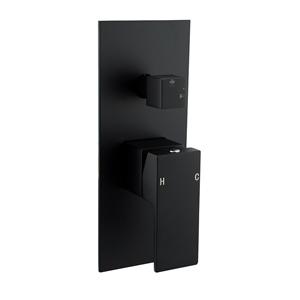 Square Black Shower/Bath Spout Mixer Tap