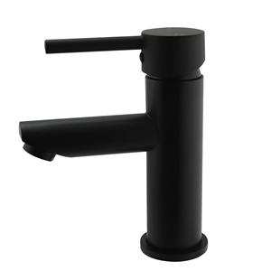 Round Black Basin Mixer (Brass), Waterma