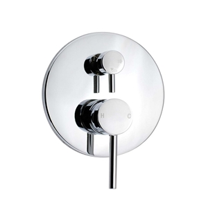 Round Chrome Shower/Bath Mixer Tap With