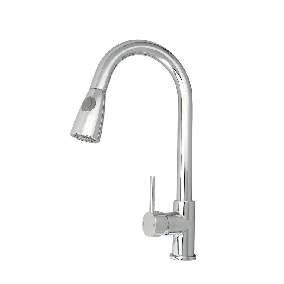 Chrome Round Pull Out Kitchen Mixer Tap Laundry faucet 4L/M Watermark WELS