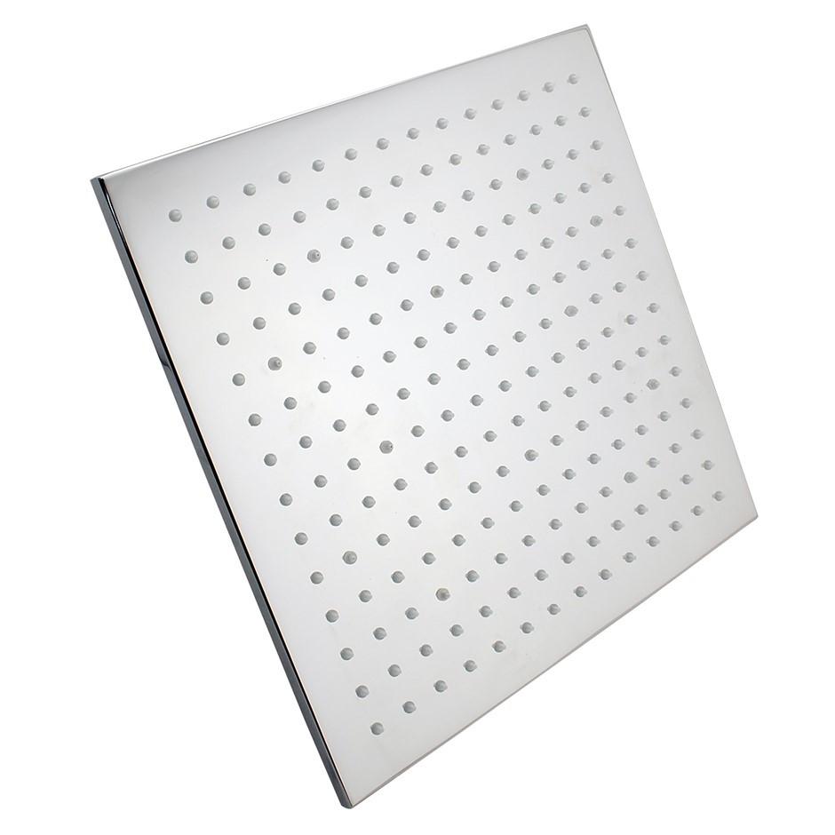 "12"" Square Chrome LED Rainfall Shower Head(Brass)"