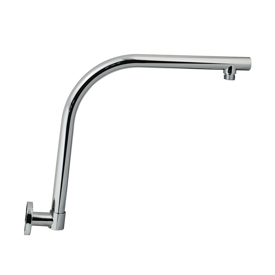 Round Chrome Swivel Gooseneck Wall Mounted Shower Arm(Brass)
