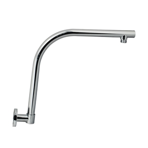 Round Chrome Swivel Gooseneck Wall Mount