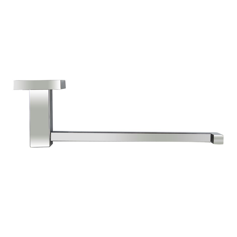 Square Chrome 304 Stainless Steel Hand Towel Ring Clothes Robe Hook