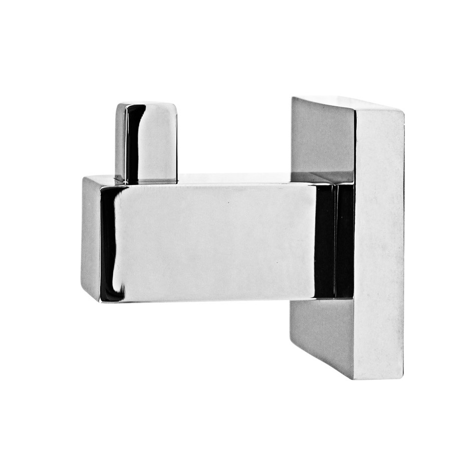Square Chrome 304 Stainless Steel Clothes/Hand Towel/Robe Hook