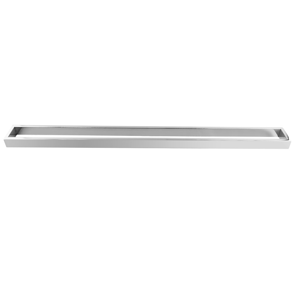 Square Chrome 304 Stainless Steel Single Towel Rail Rack Bar 800mm