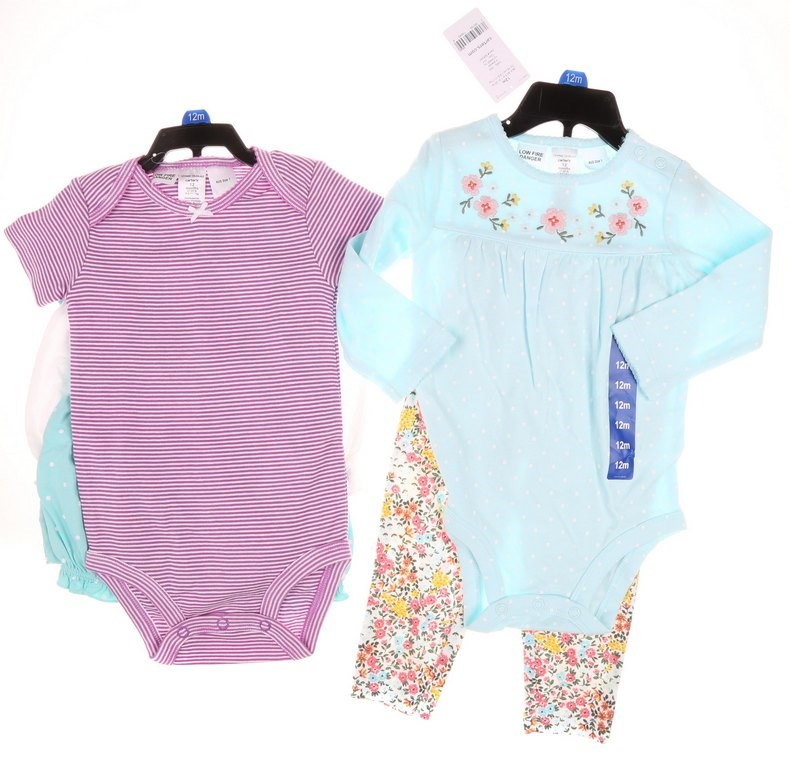 6 x CARTER`S Girl Clothing, Size 12M, Cotton/Polyester, Multi-Coloured. Buy
