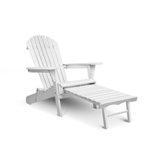 Gardeon Adirondack Chair with Ottoman -