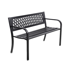 Gardeon Cast Iron Modern Garden Bench -