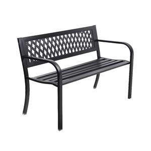 Gardeon Cast Iron Modern Garden Bench -