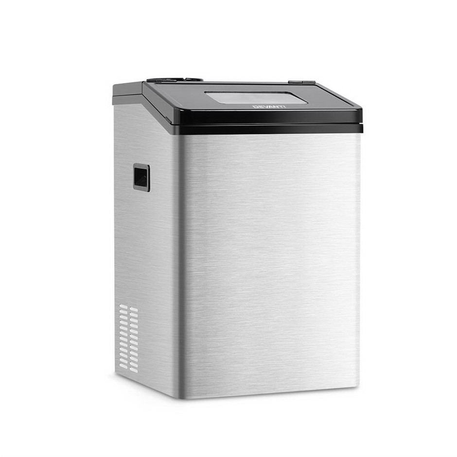 Devanti Commercial 8KG Ice Maker - Silver