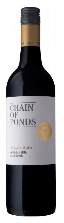 Chain of Ponds `Graves Gate` Syrah 2016 (12 x 750mL), Adelaide Hills, SA.