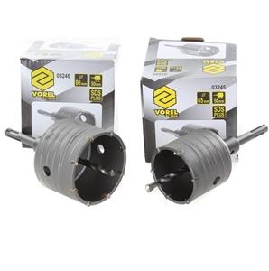 2 x VOREL SDS-Plus Hole Saw Drill Sets 8