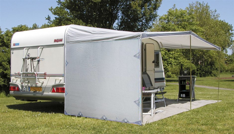 Pop Top Caravan Privacy Sun Shade Wall Roll Out Awning Extension