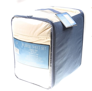 Life Comfort Fleece Sheet Set Queen Size Cream Buyers Note