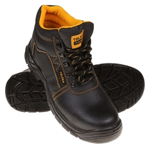 Pair TOLSEN Lace-Up Safety Boots, UK Siz