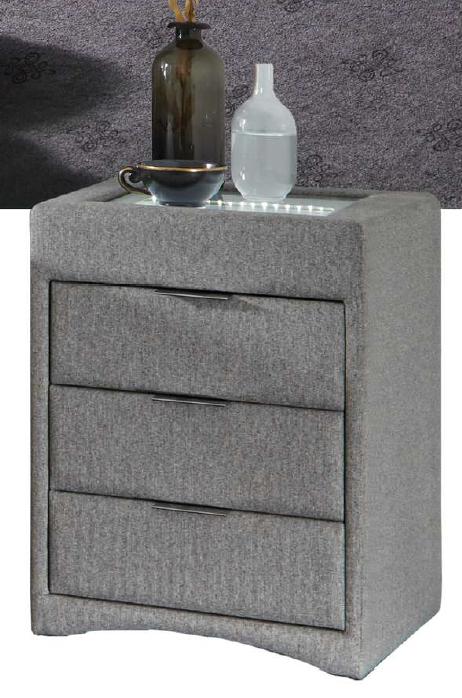 Light Grey Bedside Table: Light Grey Auction (0055-1307483