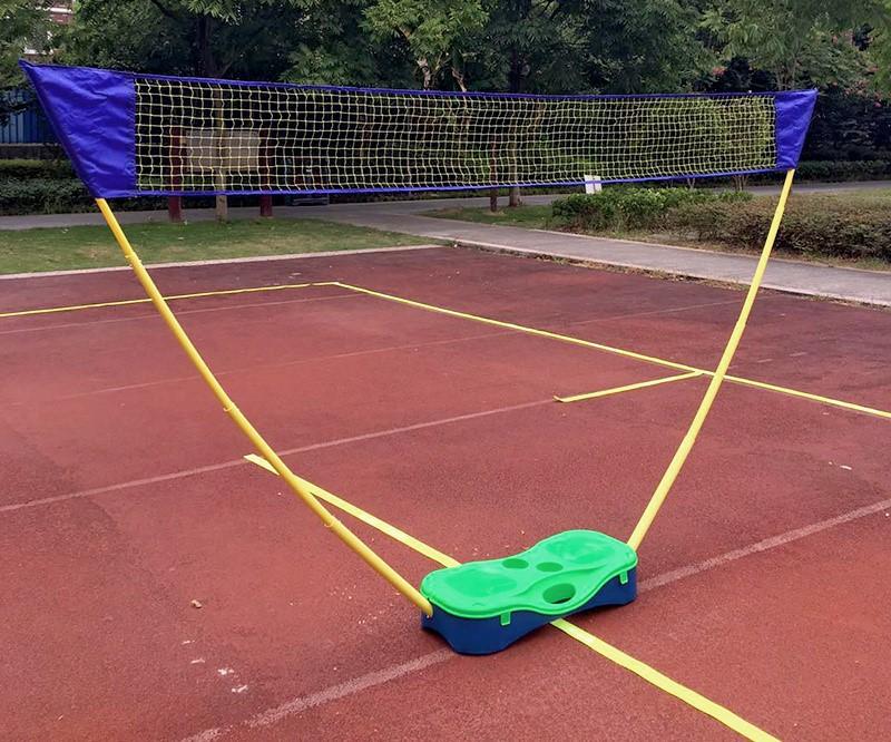 Folding Portable Badminton Combo Set Volleyball Net Outdoor Sports