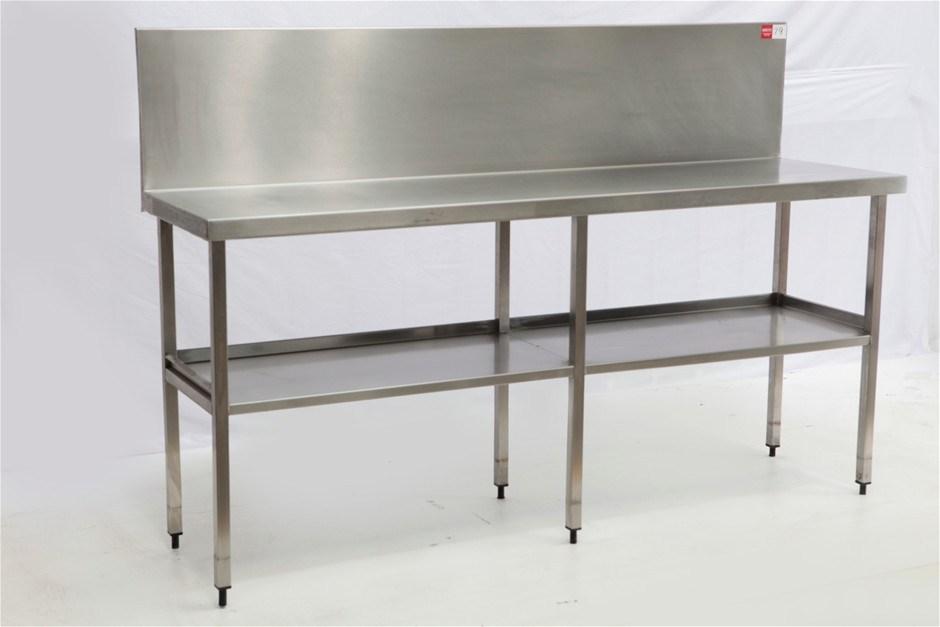 Free standing stainless steel kitchen preparation bench ...