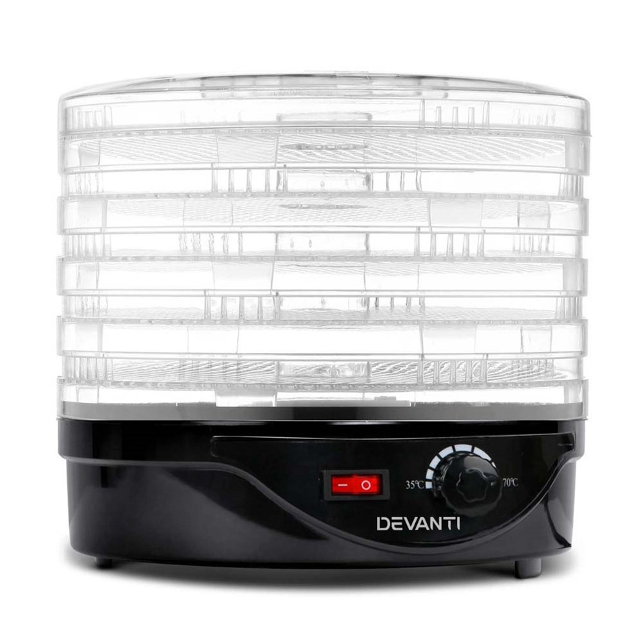 5 Star Chef Food Dehydrator with 5 Trays - Black