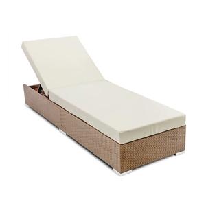 Gardeon Outdoor Wicker Sun Lounge - Natu