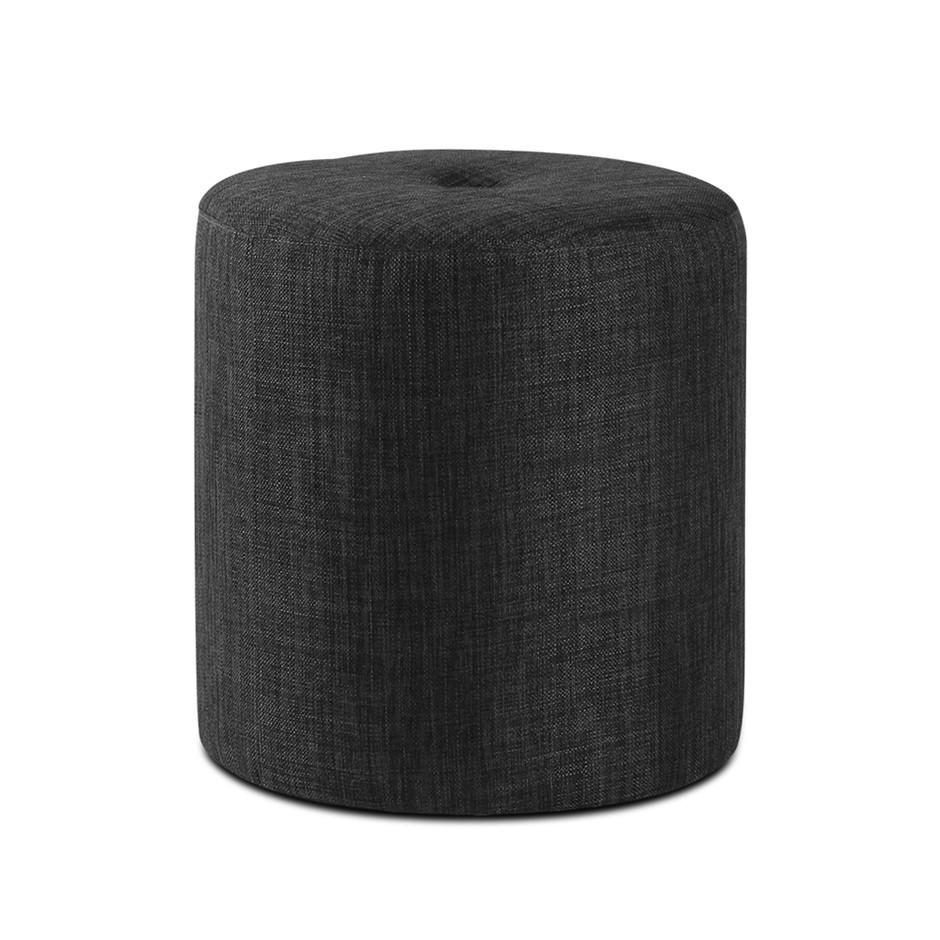 Artiss Wooden Ottoman Footstool Pouffe Stool Foot Rest Seat Charcoal