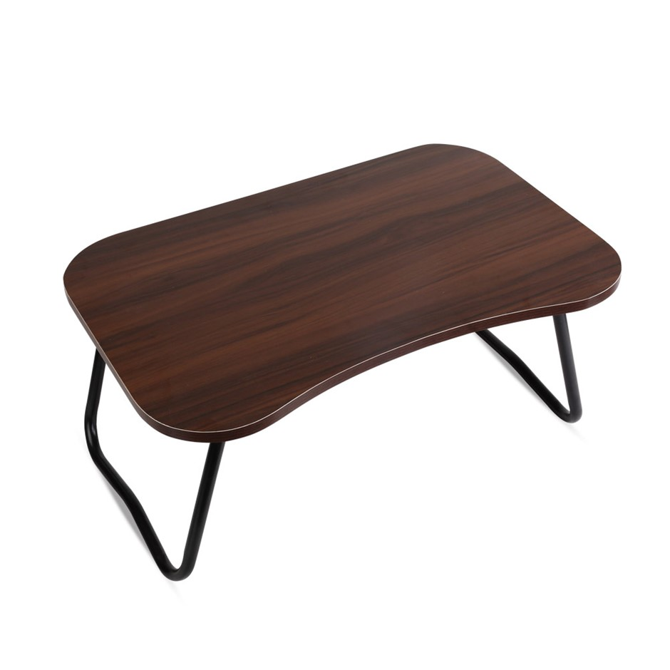 Portable Bed Tray Table Breakfast Tea PC Folding Laptop Stand Dark Wood