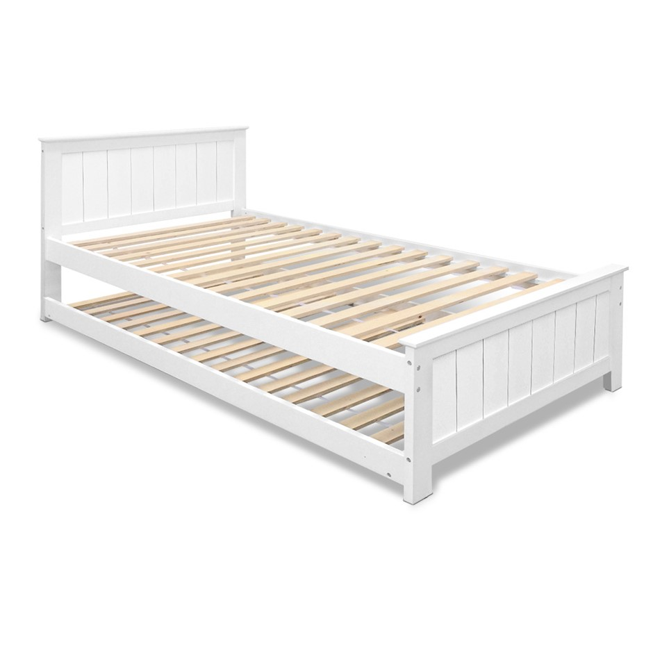 Artiss King Single Wooden Timber Bed Frame Daybed Mattress Size Base