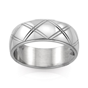 Stainless Steel Ring - Ring Size : W
