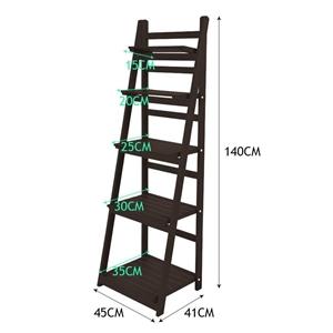 5 Tier Wooden Ladder Shelf Stand Storage