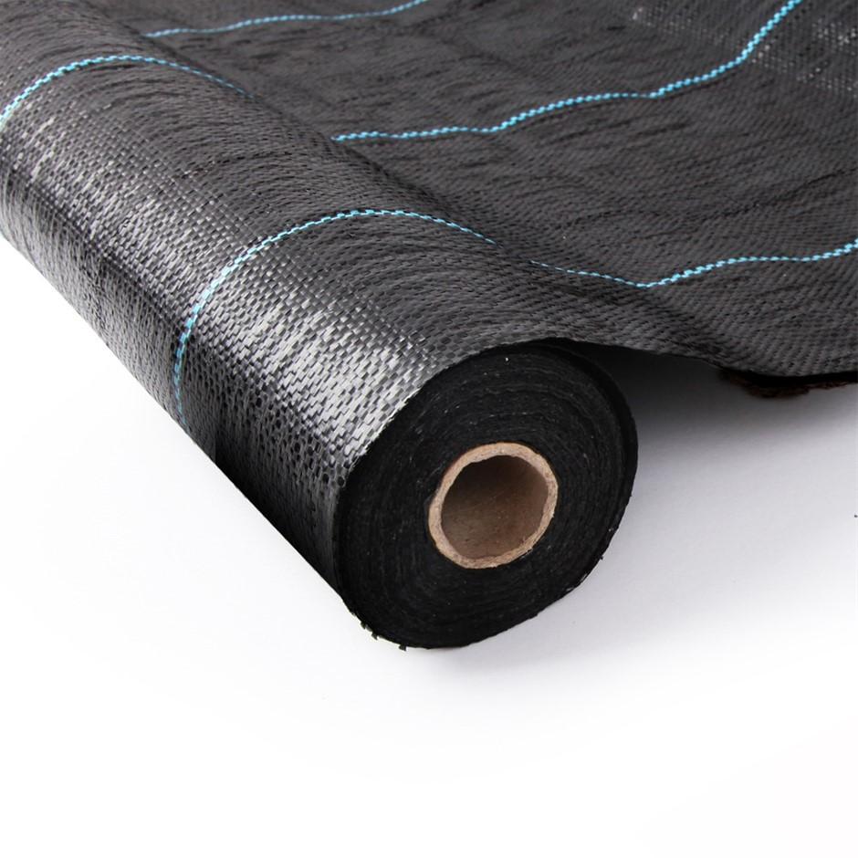 Instahut 1.83m X 100m Weedmat Woven Fabric Gardening Plant PE Black