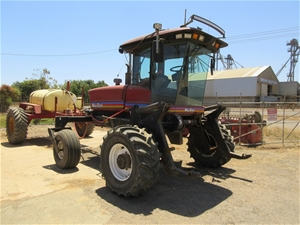 Macdon 9352 Turbo Swather with Front & Hardi Spray Cart and Roller