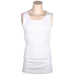 3 x Ribbed Cotton White Singlets Size 2X