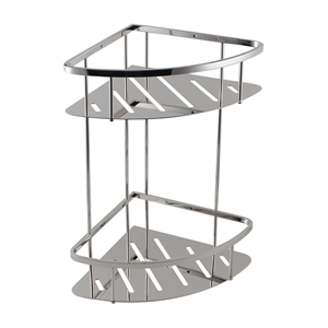 Chrome Stainless Steel 2 Tier Shower Cad