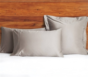 1200 TC Pillow Cases Taupe x 2