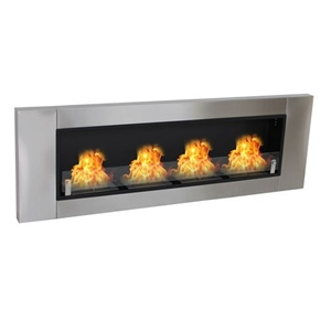 Aquaria Deluxe Wall Mounted Bio Ethanol Fireplace 4 Burner Auction