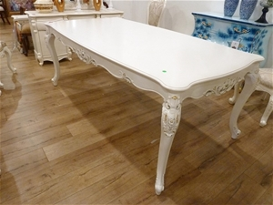 Dining Table Antique White French, White French Provincial Dining Room Set