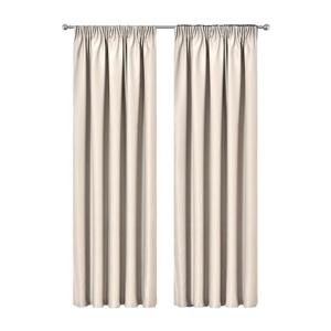 Artqueen 2x Pleat Blockout Curtains Room