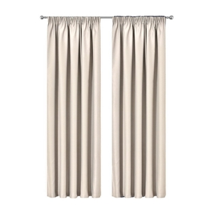 Artqueen 2x Pinch Pleat Blockout Curtain
