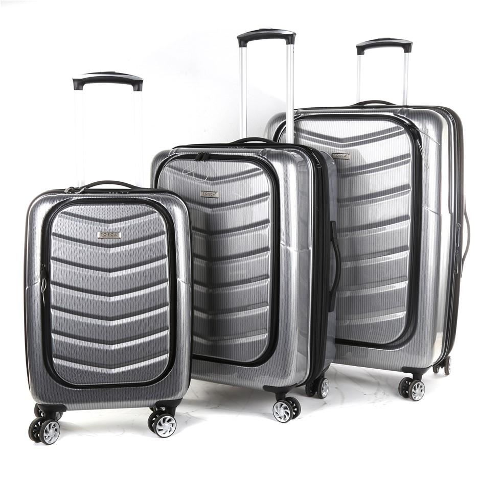 TOSCA 3pc PRIME LITE Hardside Spinner Luggage Set Comprising 2 Trolley Case